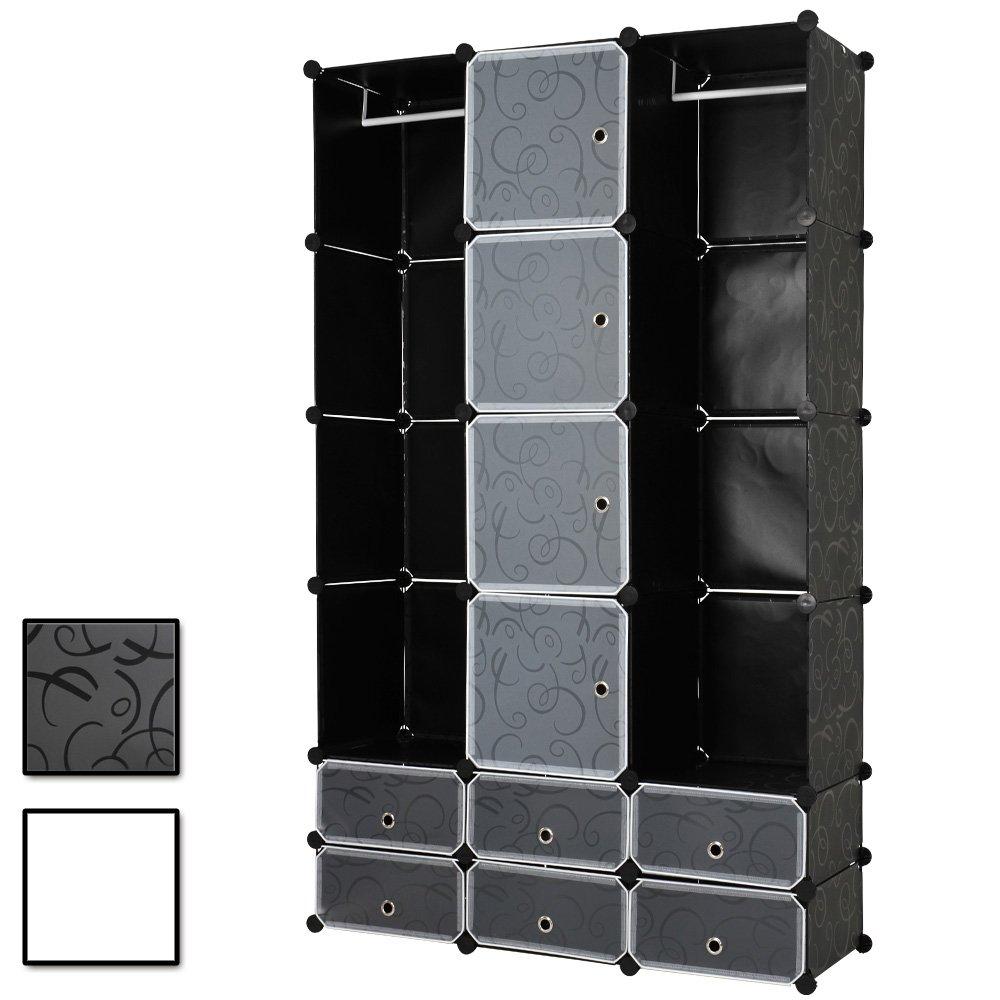 Kleiderschrank Wäscheschrank großzügiger Schrank mit 12 Fächern B/H/T: ca. 110/180/37 cm bestellen