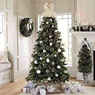 Brylanehome 7′ Frosted Tree (Silver,0)