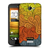 Head Case Designs Grey to Yellow Vivid Swirls Protective Snap-on Hard Back Case Cover for HTC One X