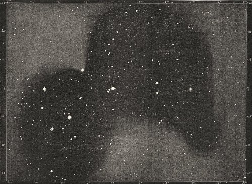 Astronomy: Double Stars Multiples: Pleiades Wolt 571 Visible Stars; Print 1877