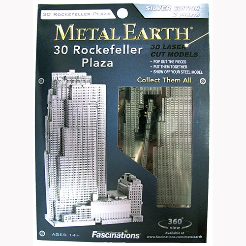 Metal Earth 3D Metal Model - 30 Rockefeller Plaza - 1
