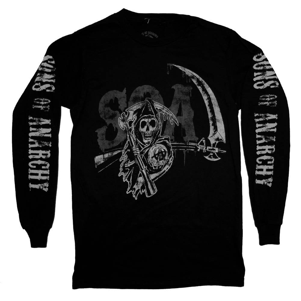 Trenz Shirt Company Sons Of Anarchy SAMCRO Grim Reaper Distressed TV Show Long Sleeve at Sears.com
