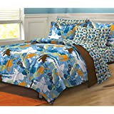 My Room Extreme Sports Ultra Soft Microfiber Boys Comforter Set, Multi-Colored, Twin/Twin X-Large