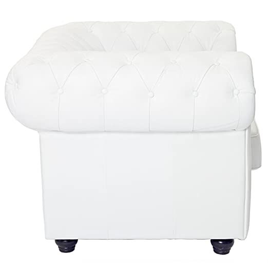 Chesterfield Armchair, White