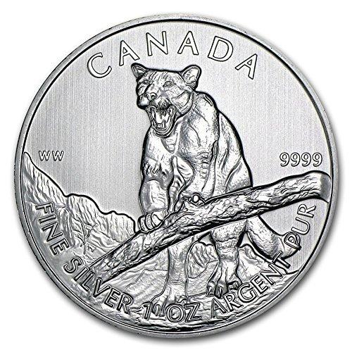 2012 CA Canada Cougar 1 oz Silver Coin
