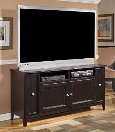 Almost Black Contemporary Carlyle Large TV Stand