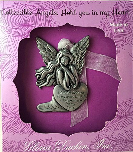 "Angels Amongst Us ""Hold You In My Heart"" Pewter Ornament with Swarovski Crystals"