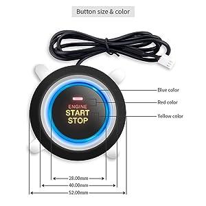 EASYGUARD EC004 Smart Rfid Car Alarm system Push Engine Start button & Keyless Go System Fits for most DC12V cars