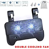 WENDOM Mobile Game Controller for PUBG 4-in-1 Gamepad with Phone Joystick for Android iOS Phone Joystick with Portable Charger with Cooling Fan Shoot Aim Trigger Buttons Fortnite Knives Out