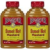 Beaver Brand Sweet Hot Mustard, 13 oz Squeezable Bottles, 2 pk