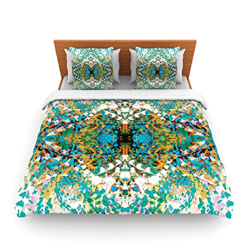 "Kess Inhouse Nikposium ""Summer Breeze"" Blue Teal King Fleece Duvet Cover, 104 By 88-Inch front-937103"