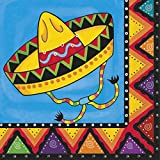 20 Wild West Mexican Fiesta Festivity Party 33cm Disposable Paper Napkins
