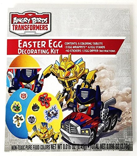 Angry Birds Transformers Easter Egg Decorating Kit with Wraps and Stickers - 1