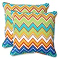 Pillow Perfect Outdoor Zig Zag Throw Pillow, 18.5-Inch, Orangeade, Set of 2 from Pillow Perfect