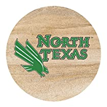 Thirstystone Natural Sandstone Set of 4 Coasters University of North Texas