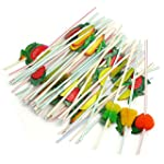 RHX 3D Fruit Cocktail Drinking Straw...