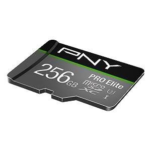 PNY U3 PRO Elite microSDXC Card - 256GB - (P-SDUX256U395PRO-GE) (Color: Black, Tamaño: 256GB)