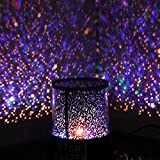 Idani LED Night Light Projector Lamp, Colorful Star Light, Bedside Lamp for room with USB Cable