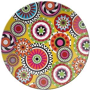 French Bull 15-1/2-Inch Melamine Serving Platter, Sunshine Wheel
