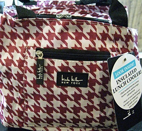nicole-miller-of-new-york-insulated-lunch-cooler-houndstooth-maroon-11-lunch-tote-by-24-7-internatio