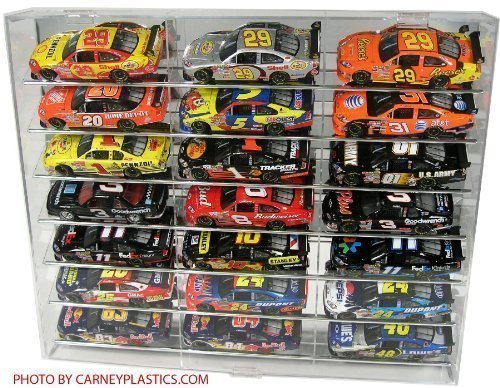NASCAR Display Case 21 car Angled Shelf fits Diecast 1/24 Action 1:24 Scale (Display Cases For Die Cast Cars compare prices)