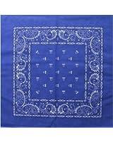 Royal Blue Paisley Cotton Bandanna