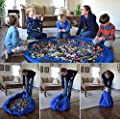 Easy Tidy Play & Storage mat - Quickly swoops into a shoulder bag - Ideal for Lego, Duplo & other children's toys for faster cleanup! Atlantic Blue (Large- 150CM)