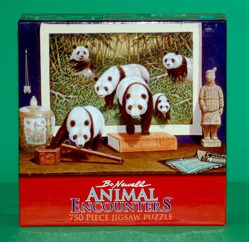 Bo Newell Animal Encounters - Panda Bears - 750 Piece Puzzle