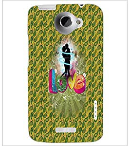 PrintDhaba Love D-3551 Back Case Cover for HTC ONE X (Multi-Coloured)