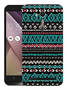 "Humor Gang Ethnic Aztec Tribal Tribal Pattern Printed Designer Mobile Back Cover For ""Asus Zenfone 2"" (3D, Matte, Premium Quality Snap On Case)"