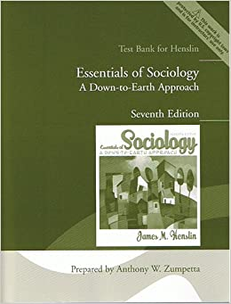 essentials of sociology a down to earth approach essay Essentialsofsociologyadown toearthapproach11e-jamesm-  essentials of sociology: a down-to-earth approach stresses how profoundly our society and the groups to which we belong influence us social class, for example, sets us on a particular path in life  it is my sincere desire that essentials of sociology: a down-to-earth approach.