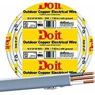 Southwire 13055917 Do it Underground Feeder Cable-25' 12-2 UFW/G WIRE