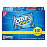 Oreo Mini Chocolate Sandwich Cookies, 12 Count Individual Snack Bags