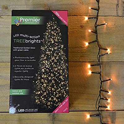 1000 Golden Glow LED Christmas Lights For Big Trees