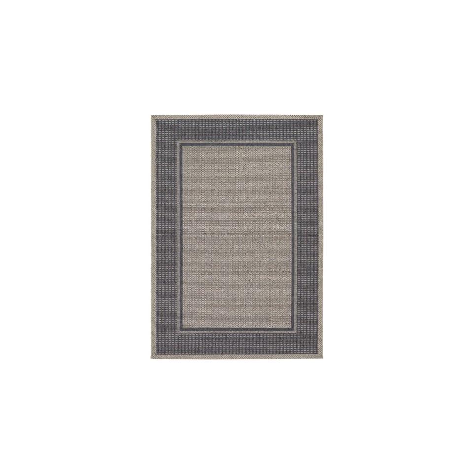 Couristan Tides Astoria 0058/4004 53 x 76 Charcoal / Grey Area Rug