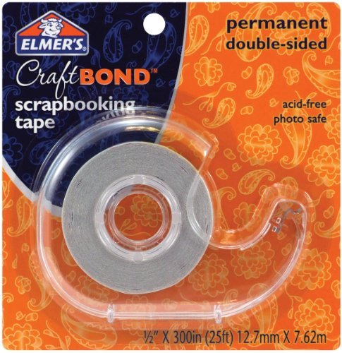 elmers-e4004-craftbond-double-sided-scrapbooking-tape-permanent-1-2-inch-by-300-inch-clear-by-elmers