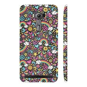 Enthopia Designer Hardshell Case Flowery Rainbow Back Cover for Asus Zenfone 2 Laser ZE550KL