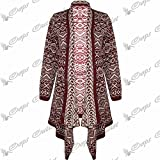 Be Jealous New Knitted Waterfall Front Open Womens Shawl Neck Long Sweater Cardigan