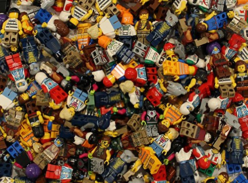10 NEW LEGO MINIFIG PEOPLE LOT random grab bag of minifigure guys city town set (Lego Minifigures Body Parts compare prices)