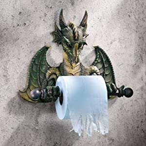 Commode Dragon Tyrant Bath Tissue Holder