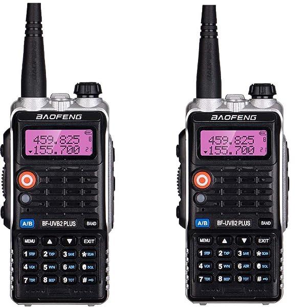 QUARKJK LED Light 4800mah Battery Bf-Uvb2 Baofeng Uvb2 Plus for WalkieTalkie Cb Radio Mobile Comunicador High Power Baofeng 8w b2,2pcs (Tamaño: 2pcs)