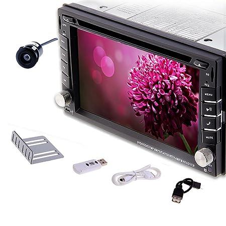 6.2 pouces vidéo de voiture pour GPS 6.2 pouces 2 Din 3 g Internet caméra arrière du véhicule Lecteur DVD pour tableau de bord avec Radio stéréo Écran tactile