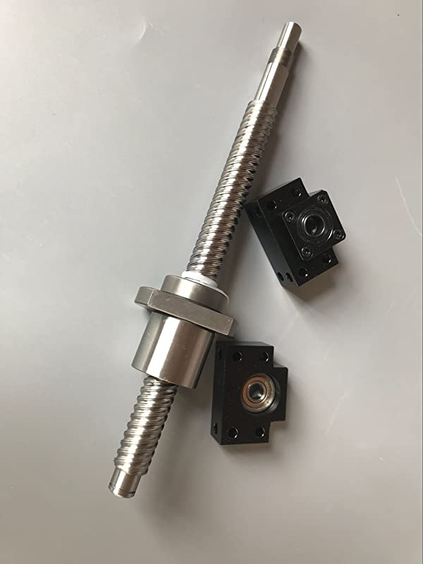 Length Approx 59.06inch TEN-HIGH Double nut Ball Screw CNC Parts DFU1605 RM1605 16mm 1500mm with Double nut No end-Machining 1500mm