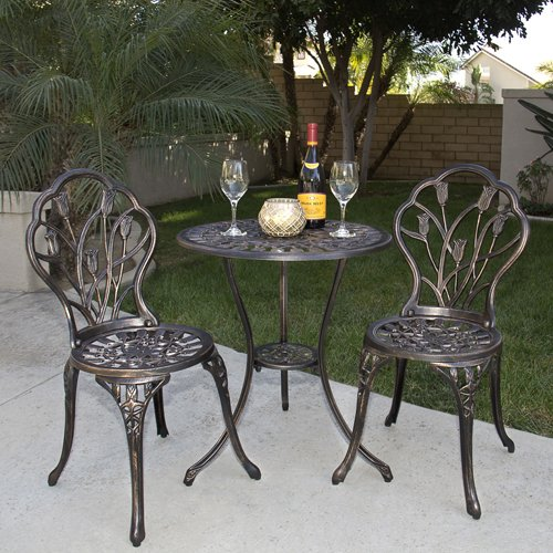 Outdoor Patio Furniture Tulip Design Cast Aluminum