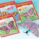 Butterfly Gliders 6 Assorted Designs Party Bag Fillers, Children's Games & Prizes (Pack of 6)