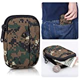 Small Tactical Pouch,Bienna Mini Military Purse Organizer Army Molle Gear [Waterproof] Nylon EDC Utility Gadget Outdoor Waist Bag Holster Pocket Cover Case for iPhone 4s 4 Change Key Men Women-WD