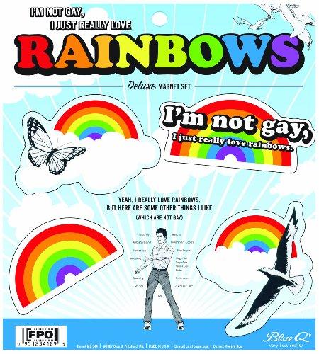 Blue Q I Am Not Gay, I Just Really Love Rainbows Magnet Set
