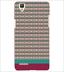 PrintDhaba Tribal pattern D-1887 Back Case Cover for OPPO F1 (Multi-Coloured)