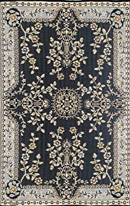 Mad Mats Garland Indoor/Outdoor Floor Mat, 4 by 6-Feet, Black and Tan