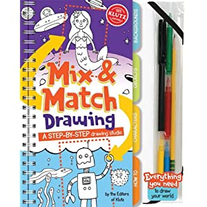Mix and Match Drawing: A step-by-step drawing studio (Klutz) Editors Of Klutz and The Editors of Klutz